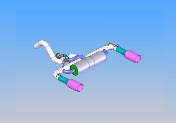 Sport muffler with bypass valve